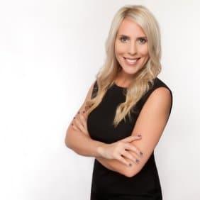 Blonde woman professional headshot photo